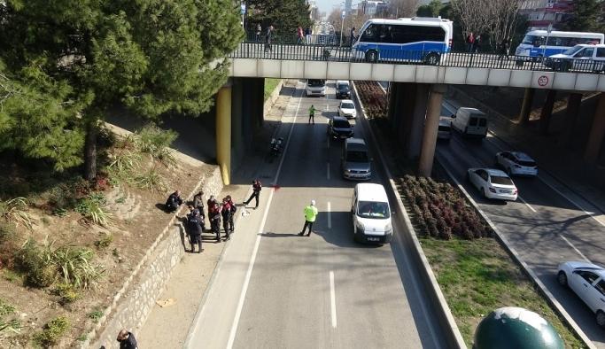 Bursa'da köprüden atladı