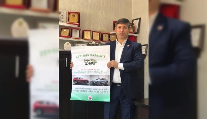 Gemlik'in girişlerine yerli otomobil ve zeytin başkenti tabelâsı teklifi